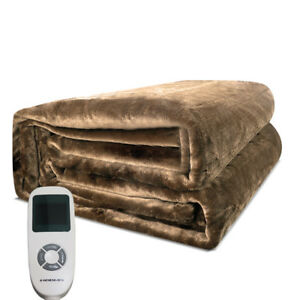 Warm-Bed-Cozy-Bedding-Heater-Plush-Electric-Heated-Blanket-Mushroom-Flannel
