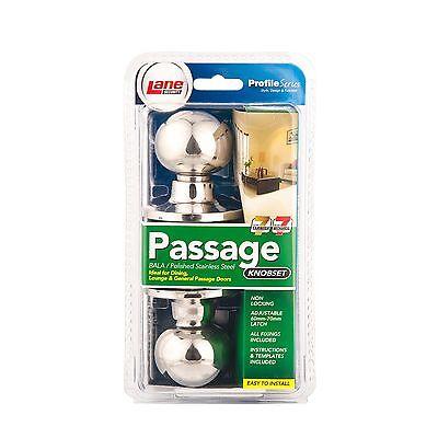 bala passage door knob set polished stainless steel