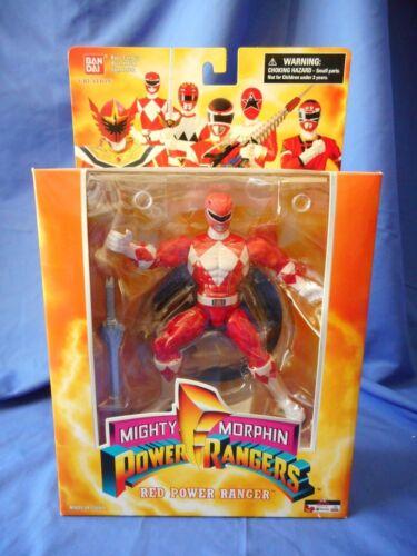 Figurine Power Ranger rouge du 15e anniversaire des Power Rangers Bandai Mmpr 45557291723