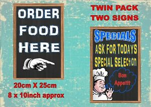 Pub Food Signs Coffee Antique Style