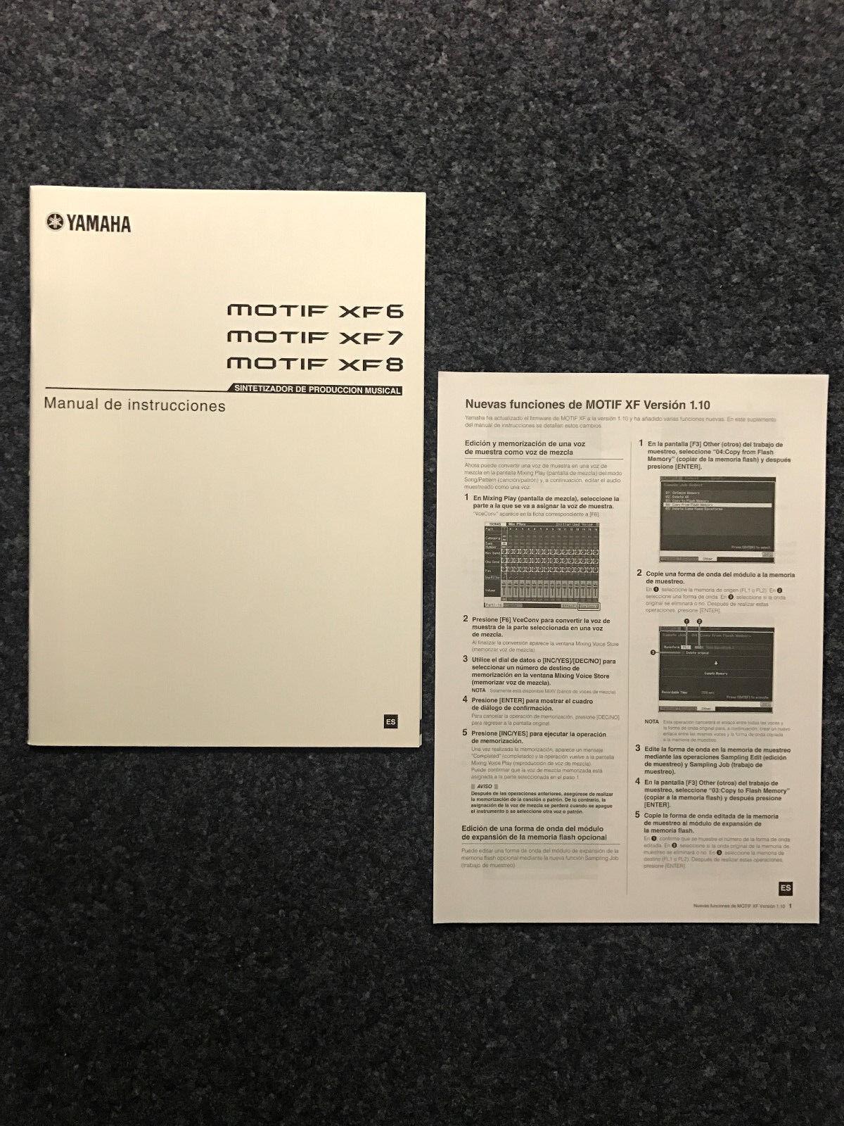 Yamaha   MOTIF   XF6 XF7 XF8   New Production SyntheGrößer   Instrucciones   ES