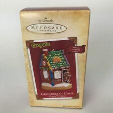 Crayola Crayons Hallmark Ornament Gingerbread Home Lighting Effect 2004