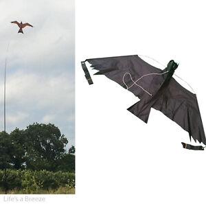 Kits 3D de cerf-volant Black Hawk. Scarificateur d'oiseaux protéger les cultures des agriculteurs. Avec une ligne gratuite
