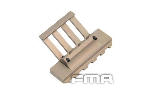 DE Tactical Aluminum 30 Degree One O/'Clock Offset Picatinny Rail Side Mount