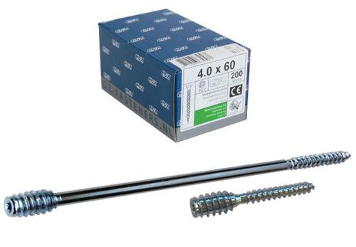 QZ Distanzschrauben 6.0x120//20 TX-25 Stahl verzinkt Justierschrauben Abs 50 Stk