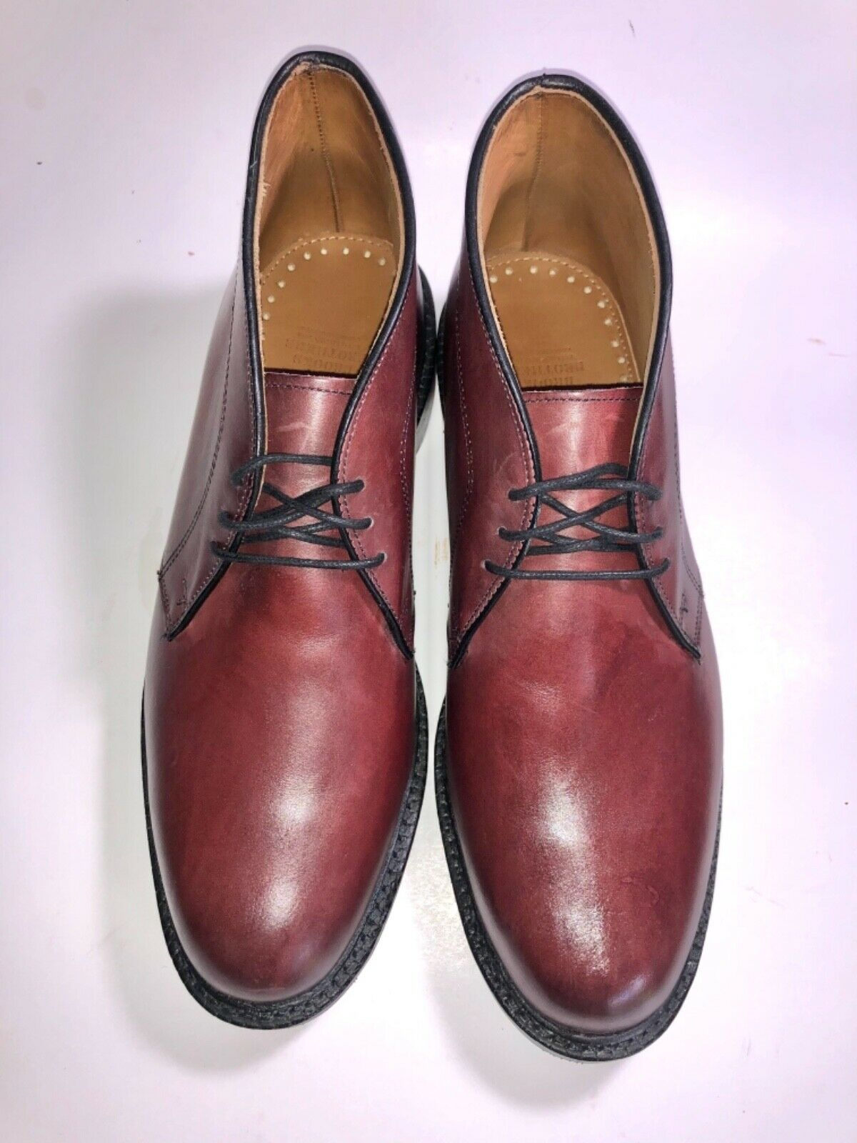 "Allen Edmonds ""DUNDEE"" RARE , Burgundy, 9.5 D, NEW"