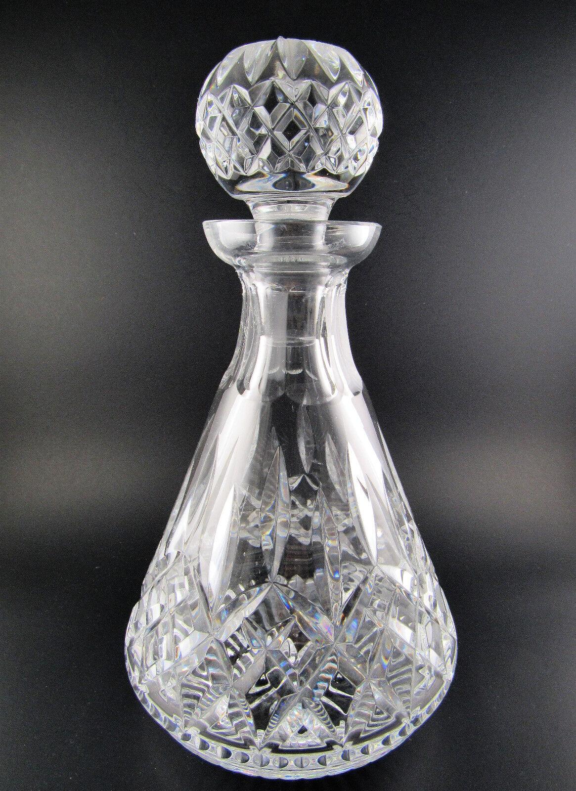 VINTGE WATERFORD cristal verre taillé carafe avec bouchon (LE)