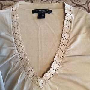 Silk M Beige Knits Women August Top RqZ11O