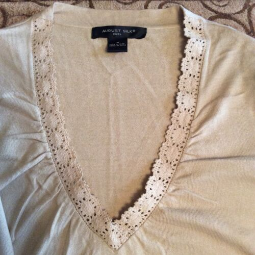 M Beige August Top Women Knits Silk OwX6xq4tx
