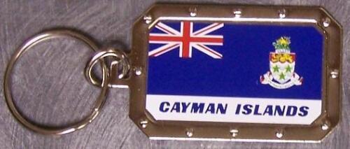 Nickel metal key ring National Flag Cayman Islands NEW