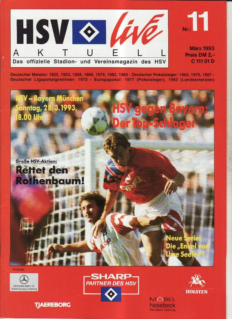 BL 92/93 Hamburger SV München - FC Bayern München SV 996a82