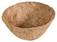 (6) 14 Round Replacement Coco Fiber Liner Hanging Basket Coconut Liners - 88592