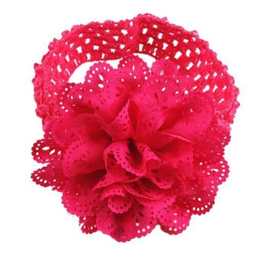 1pc Kids Baby Girl Toddler Children Lace Headband Hair Bow Accessories Headwear