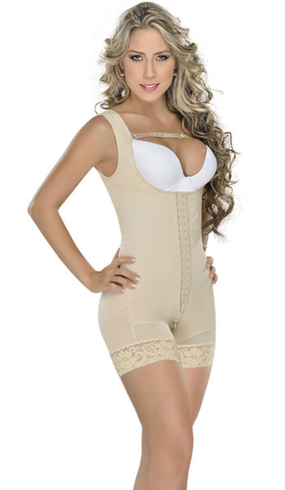 MyD F0065 Fajas Colombianas Post Surgical Body Shaper Short Style Butt Lifter