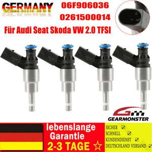 Einspritzdüse 4x Für Audi Seat Skoda VW 2.0 TFSI BWA 06F906036A 0261500020