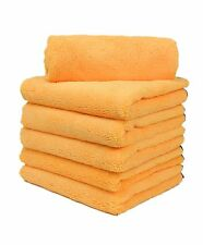 144 new microfiber towel new cleaning cloths bulk 16x16 gold 330gsm