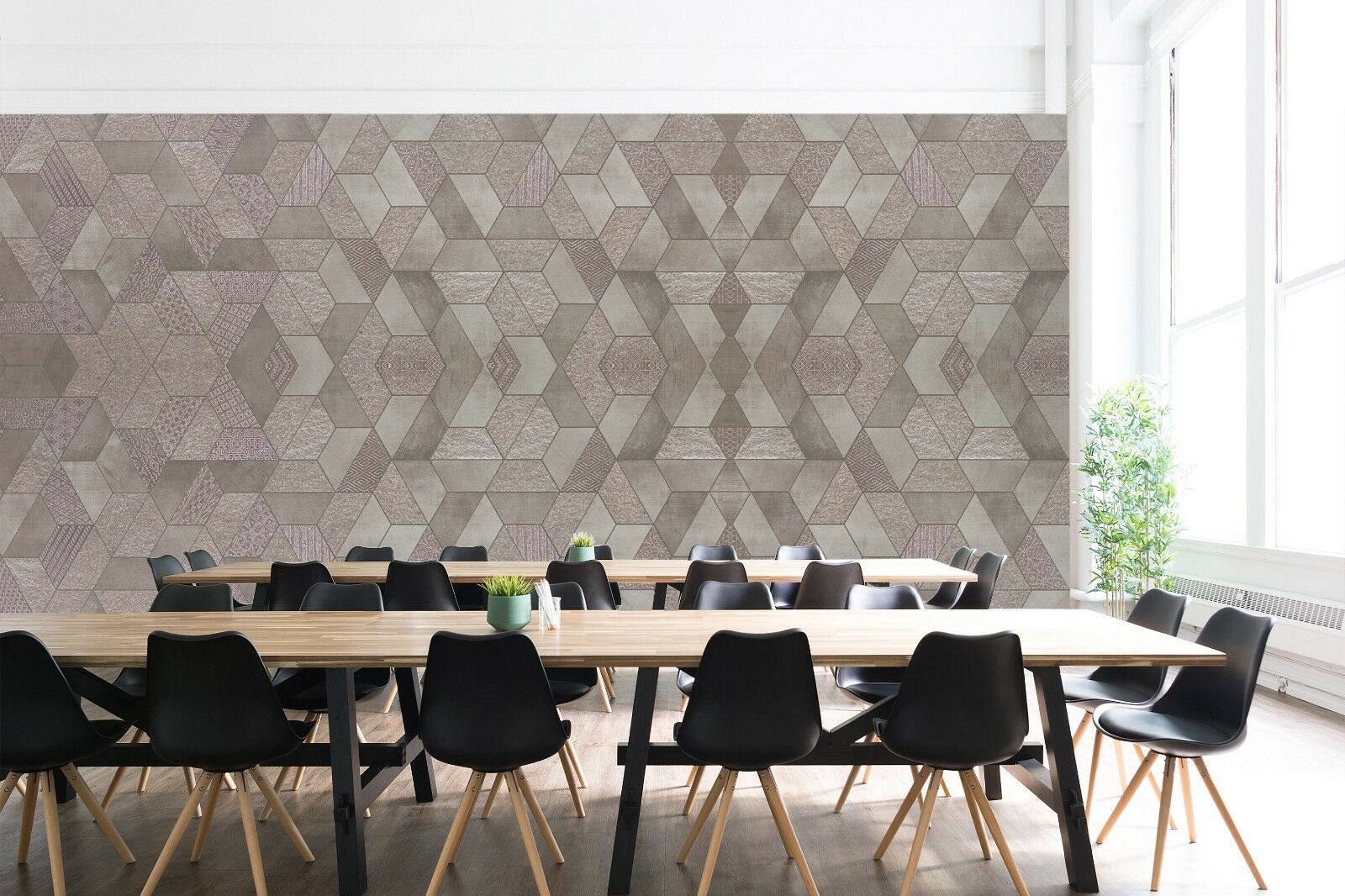 3D Office Home Popular 3 Texture Tiles Marble Wall Paper Decal Wallpaper Mural