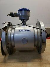 Krohne Optiflux Rubber Lined 6 Flow Meter With Altometer Optiflux 2000
