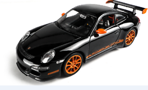 Welly-1-24-Porsche-911-GT3-RS-997-Black-Diecast-Model-Sports-Racing-Car-Boxed