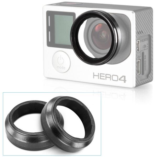 Efficace Neewer 2pcs Slim Lentille Housse Protecteur Capuchon De Protection Pour Hd Gopro Hero 3 3+ 4