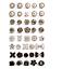縮圖 1 - Anti-Glare Button Concealed Buckle  Adjustment Nail-Free Pearl Button 30 Pieces