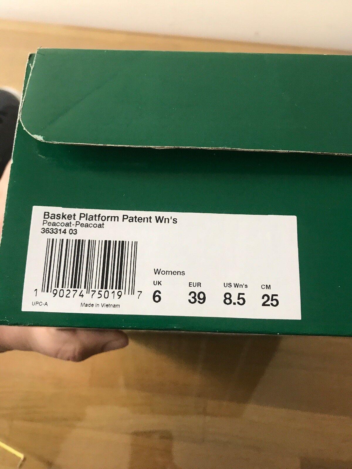 Puma Puma Puma Women's Basket Platform Patent Sneaker, Size 8.5 ce7091