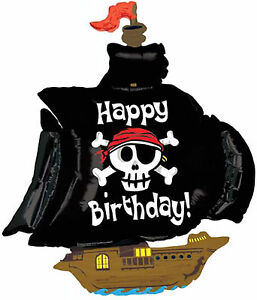 PIRATE-SHIP-BALLOON-46-034-HAPPY-BIRTHDAY-PIRATEN-PARTY-SUPPLIES-BETALLIC-BALLOON