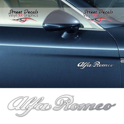 7YR Vinyle ALFA ROMEO Chrome Vinyle Porte Voiture Autocollants Latéraux Autocollants Graphics X2