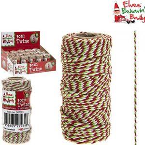 Manualidades Duendes De Navidad.Detalles De Duende Navidad Broma Cuerda 30m Rojo Blanco Verde Manualidades Cordel Elfos