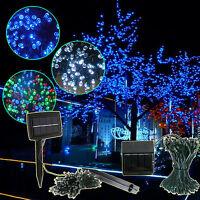 100 LED String Solar Powered Fairy Lights Garden Party Wedding Christmas Outdoor