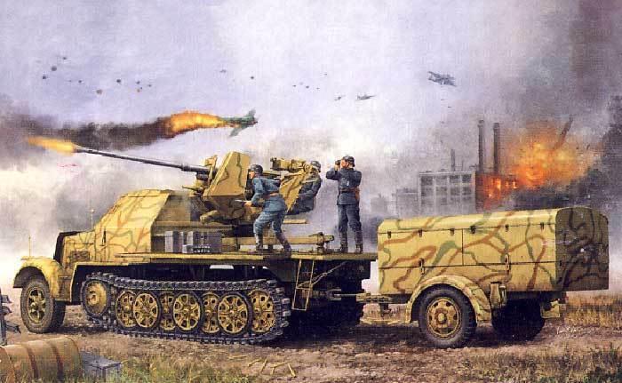 Trumpeter Sd.Kfz.7 2 3.7cm Flak 37 After world war ii Trailer 52 1 35 +