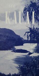 Vintage Hawaii Travel Brochure Kauai Map The Garden Island Songs Dictionary 1950
