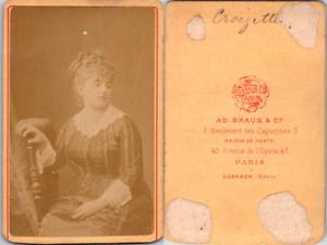 CDV-Braun-Paris-actrice-la-comedienne-Sophie-Croizette-circa-1870-Vintage-CD