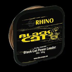 BLACK-CAT-Vorfachschnur-Spulen-20m-Power-Leader-150kg