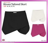 New Ladies Woven Asymmetric Women Tailored Skirt / Shorts / Skorts Sizes 8 - 14
