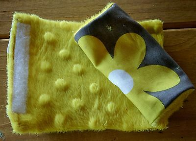Competent Infant/toddler Seat Strap Covers In Daisys With Yellow Minky Baby