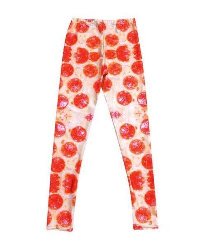 Women legging Pizza printed Slim Legging S-4XL elastic legging  352