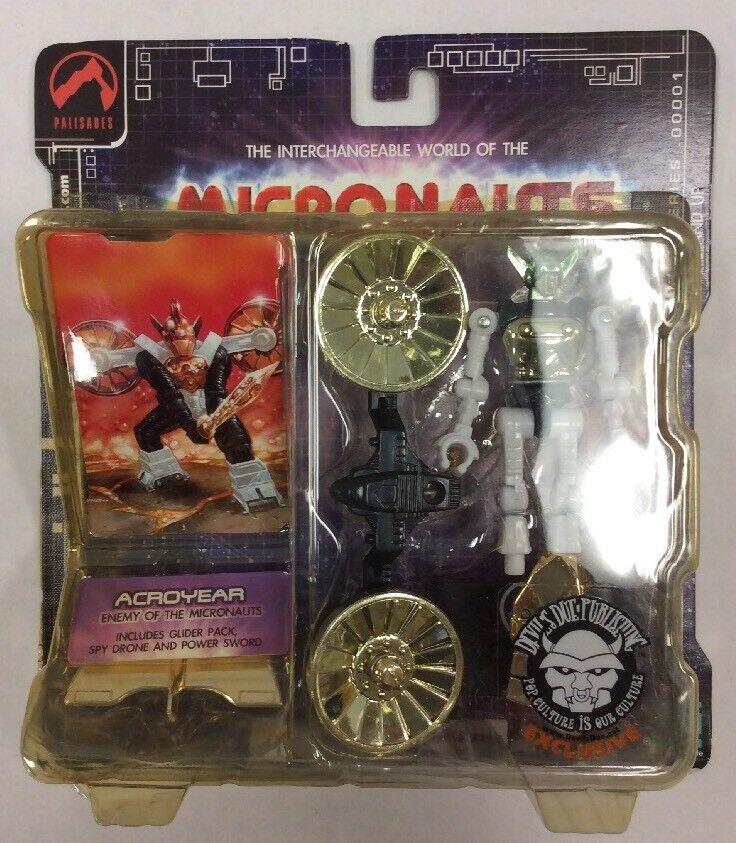 Micronauts Acroyer Series 1 Devils Due Exclusive oro bianca verde Palisades MIB