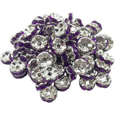20 Perles Rondelle strass Doré 8mm Couleur Noir Creation bijoux