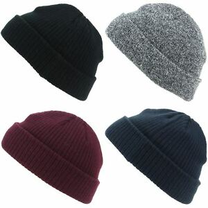 49f37cc3756 Image is loading Beanie-Hat-Mini-Fisherman-Beanie-Fishermen-Hawkins-BLACK-