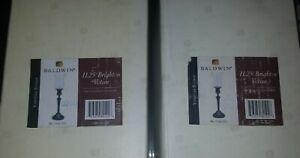 New-Baldwin-Venetian-Bronze-Brass-Candlesticks-Votive-Tealight-Holder-set-of-2