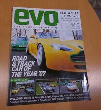 EVO 105 magazine 2007 r27 F1 207 gti m5 rs4 xj13