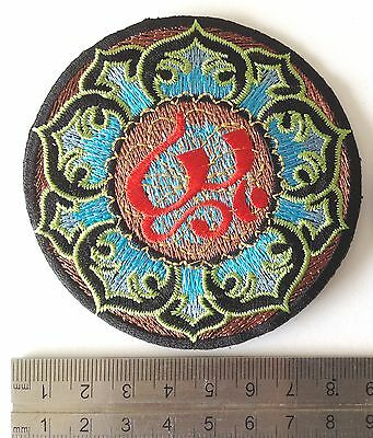 iron on patches sew on patches hippie patches trimmings om sign design 3