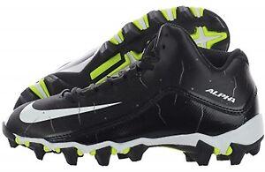 bc60ec959 NEW YOUTH Nike ALPHA SHARK 2 GS 3 4 sz 4.5Y BLACK WHITE Football ...