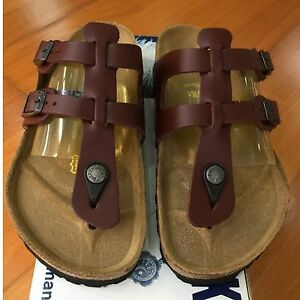 88cbe2fac53e Birkenstock Sparta 058171 size 36 L5-5.5 R Brandy Red Leather Thong ...