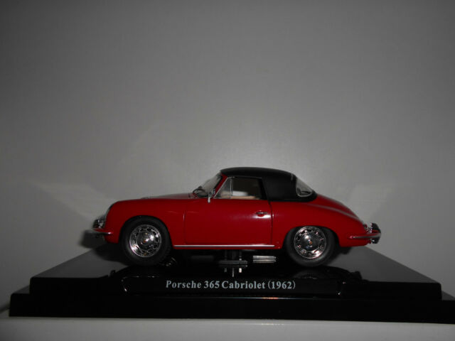 PORSCHE 356 CABRIOLET RED 1962 ATLAS 1/24