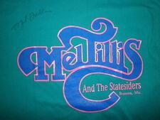 AUTOGRAPHED MEL TILLIS & STATESIDERS CONCERT T SHIRT Branson SIGNED vtg 80s 90s