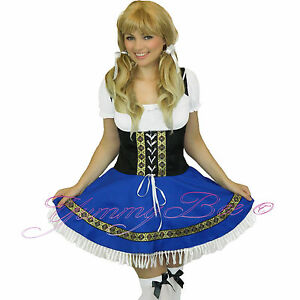 Oktoberfest-Beer-Girl-Fancy-Dress-Costume-Womens-Outfit-German-Wench-Plus-Size