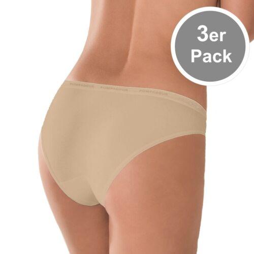 3er Pack Bikinislip 38 40 42 44 46 Weiß Schwarz Braun Life 054 POMPADOUR