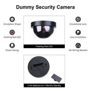 4x-Fake-Dummy-CCTV-Dome-Security-Camera-Flashing-LED-Warning-Sign-UKES
